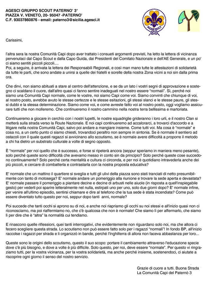 Lettera Paternò