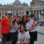 Santificazione di Giovanni XXIII e Giovanni Paolo II, uscita Clan, Noviziato e Oratorio San Luca, Roma 26-27/04/2014