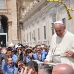 Al Papa il nostro fazzolettone, Roma p.zza San Pietro, 13/06/2015